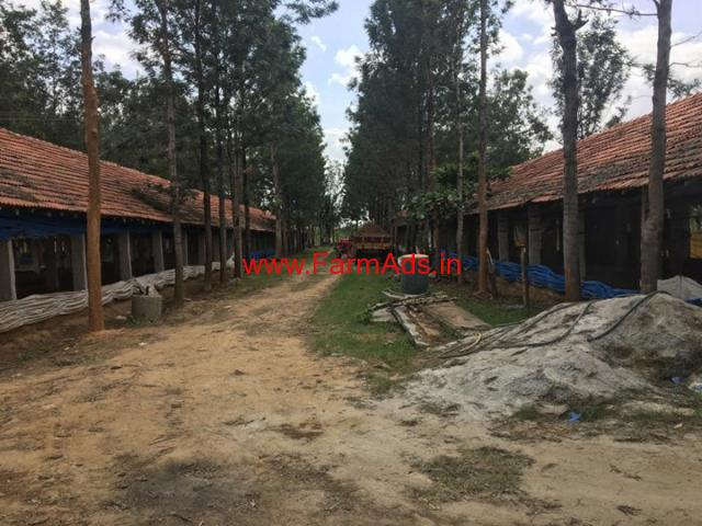 2.29 acre Farm land, 3 poultry sheds for sale at Anekal