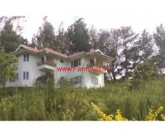 10 Acre with farm house bunglow for sale in Mynala, Ooty