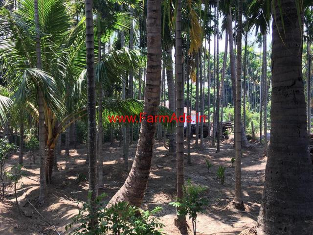 26 cents Agricultural land with Coconut , Areca trees on Siruvani Main road