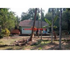 3.5 acre farm land with tile house for sale in andar ajekar - Karkala